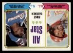 1974 Topps #332   -  Rich Allen / Hank Aaron All-Star First Baseman   Front Thumbnail