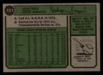 1974 Topps #151  Diego Segui  Back Thumbnail