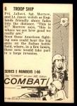 1964 Donruss Combat #6   Troop Ship Back Thumbnail