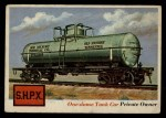 1955 Topps Rails & Sails #64   One-Dome Tank Car Front Thumbnail