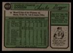 1974 Topps #457  Chuck Goggin  Back Thumbnail