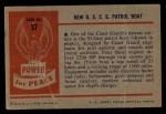 1954 Bowman Power for Peace #37   New U.S.C.G. Patrol Boat Back Thumbnail