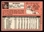 1969 Topps #365  Jim Fregosi  Back Thumbnail