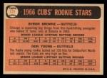 1966 Topps #139   -  Bryon Browne / Don Young Cubs Rookies Back Thumbnail