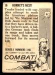 1964 Donruss Combat #16   Hornet's Nest! Back Thumbnail