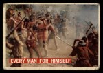 1956 Topps Davy Crockett #16   Every Man for Himself  Front Thumbnail