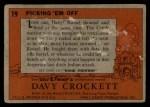 1956 Topps Davy Crockett Orange Back #19   Picking 'Em Off  Back Thumbnail