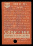 1952 Topps Look 'N See #133  Joan of Arc  Back Thumbnail
