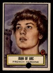 1952 Topps Look 'N See #133  Joan of Arc  Front Thumbnail
