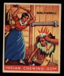 1933 Goudey Indian Gum #65  Mrs. Merrill   Front Thumbnail