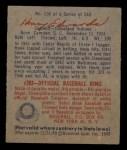 1949 Bowman #136  Hank Edwards  Back Thumbnail