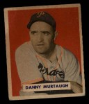 1949 Bowman #124 SCR Danny Murtaugh  Front Thumbnail