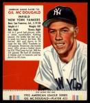 1953 Red Man #23 AL Gil McDougald  Front Thumbnail