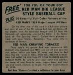 1954 Red Man #17 NL x Rip Repulski  Back Thumbnail