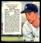1955 Red Man #5 AL x Bob Grim  Front Thumbnail