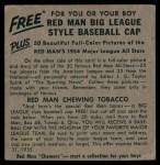 1954 Red Man #14 NL x Jim Gilliam  Back Thumbnail