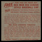1955 Red Man #22 AL x Hank Bauer  Back Thumbnail
