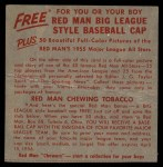 1955 Red Man #18 AL x Larry Doby  Back Thumbnail