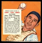 1955 Red Man #16 AL x Yogi Berra  Front Thumbnail