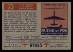 1952 Topps Wings #23   AM Mauler Back Thumbnail
