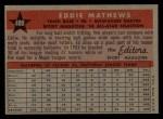 1958 Topps #480   -  Eddie Mathews All-Star Back Thumbnail