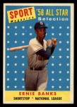 1958 Topps #482   -  Ernie Banks All-Star Front Thumbnail