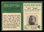 1966 Philadelphia #122  Tucker Frederickson  Back Thumbnail