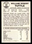 1960 Leaf #32  Bill Tuttle  Back Thumbnail