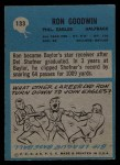 1964 Philadelphia #133  Ron Goodwin   Back Thumbnail