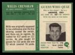 1966 Philadelphia #160  Willis Crenshaw  Back Thumbnail
