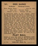 1940 Play Ball #161  Debs Gams  Back Thumbnail