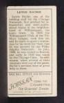 1911 T205  Lewis Richie  Back Thumbnail