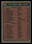 1975 Topps #307   -  Mike Schmidt / Rich Allen HR Leaders   Back Thumbnail