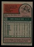 1975 Topps #364  Doug Bird  Back Thumbnail