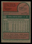 1975 Topps #175  Don Money  Back Thumbnail