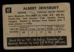 1952 Parkhurst #17  Al Dewsbury  Back Thumbnail