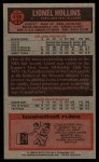 1976 Topps #119  Lionel Hollins  Back Thumbnail