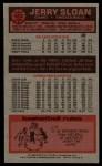 1976 Topps #123  Jerry Sloan  Back Thumbnail