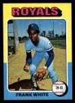 1975 Topps #569  Frank White  Front Thumbnail