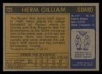 1971 Topps #123  Herm Gilliam  Back Thumbnail