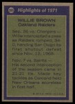 1972 Topps #285   -  Willie Brown All-Pro Back Thumbnail