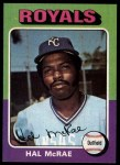 1975 Topps #268  Hal McRae  Front Thumbnail