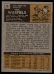 1971 Topps #261  Paul Warfield  Back Thumbnail