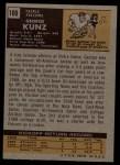 1971 Topps #109  George Kunz  Back Thumbnail