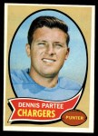 1970 Topps #185  Dennis Partee  Front Thumbnail