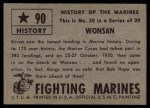 1953 Topps Fighting Marines #90   Wonsan Back Thumbnail