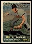 1957 Topps #382  Jim Brideweser  Front Thumbnail