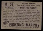 1953 Topps Fighting Marines #56   Into The Flames Back Thumbnail
