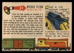1955 Topps Rails & Sails #31   Wedge Snow Plow Back Thumbnail