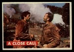 1956 Topps Davy Crockett Green Back #22   A Close Call  Front Thumbnail